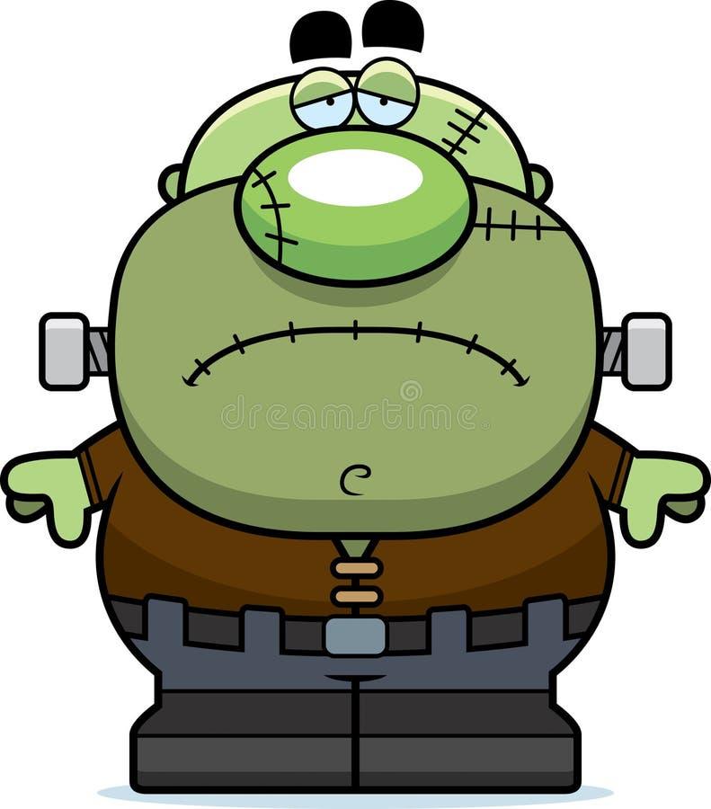Vermoeid Beeldverhaal Frankenstein vector illustratie