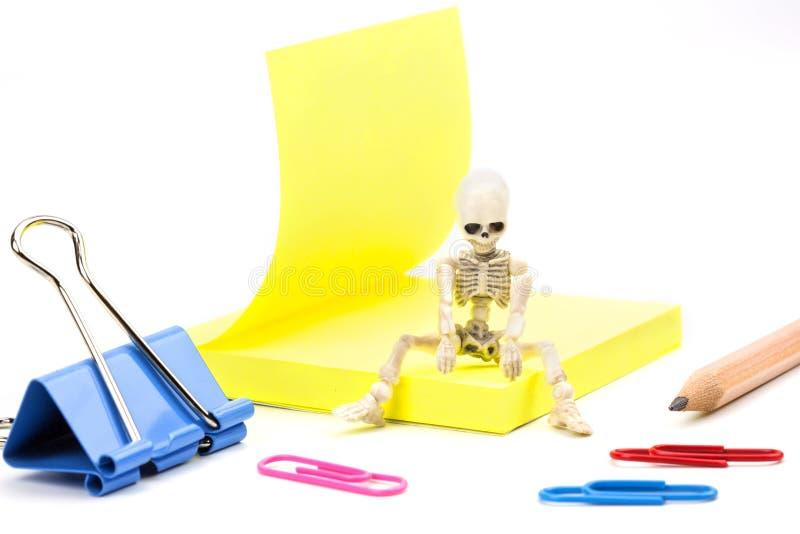Vermoeid skelet royalty-vrije stock afbeeldingen