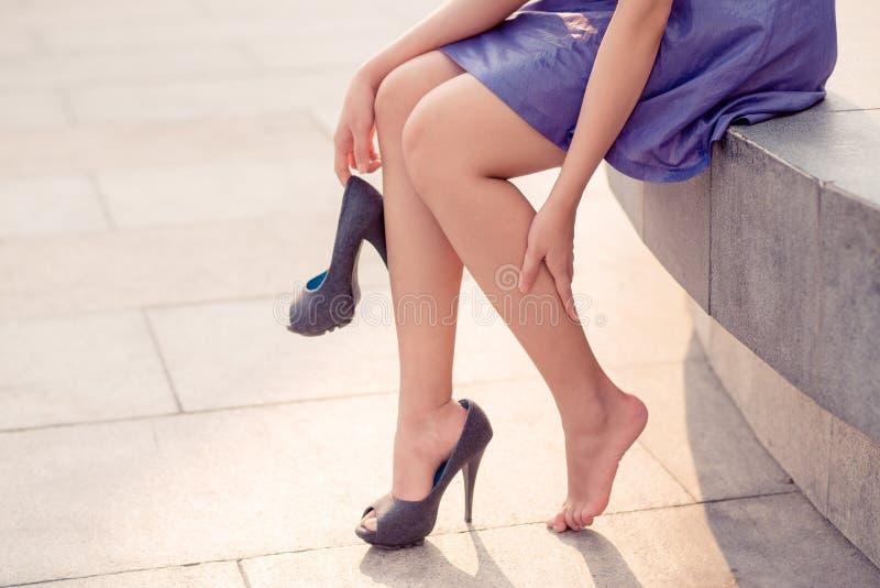 Vermoeide benen royalty-vrije stock afbeelding