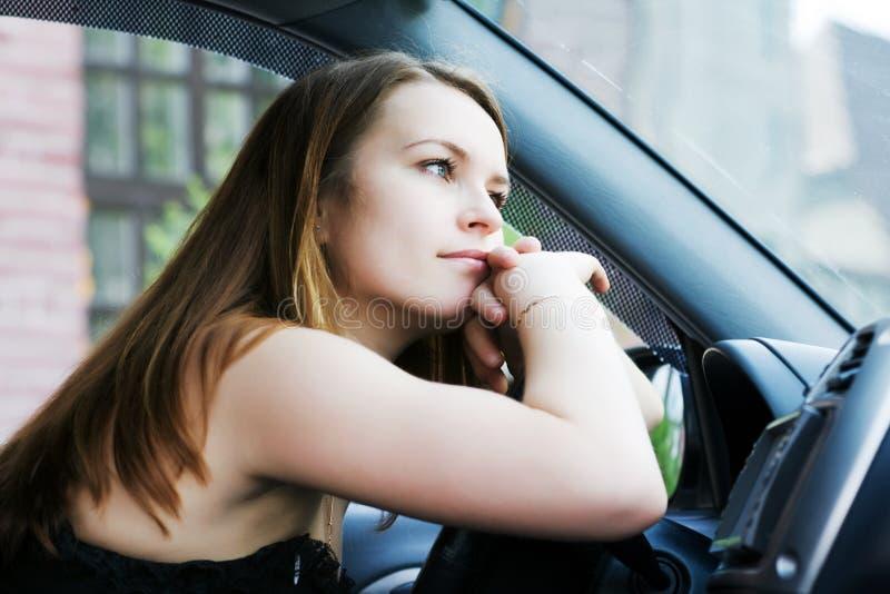 Vermoeide bestuurder. stock fotografie