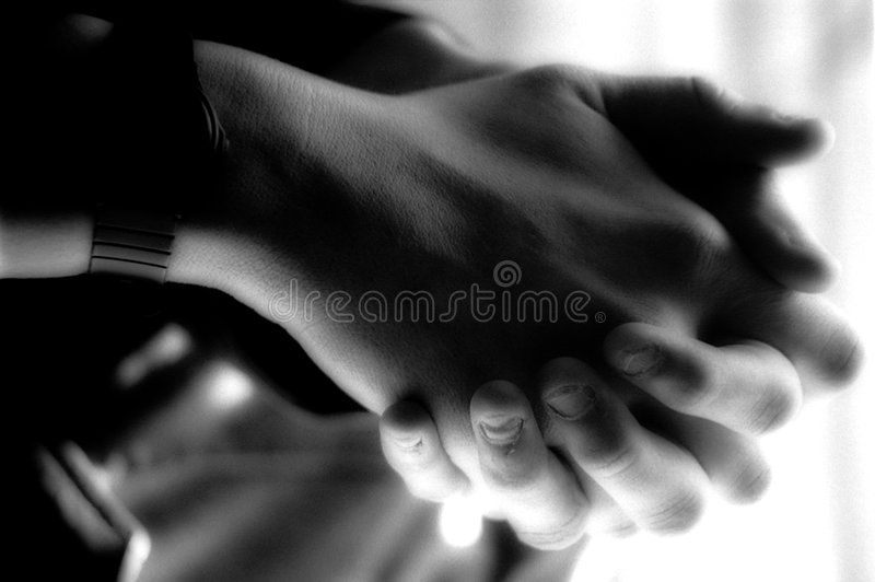 Vermoeide handen stock foto