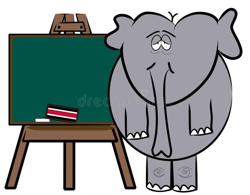 Vermoeide leraar stock illustratie