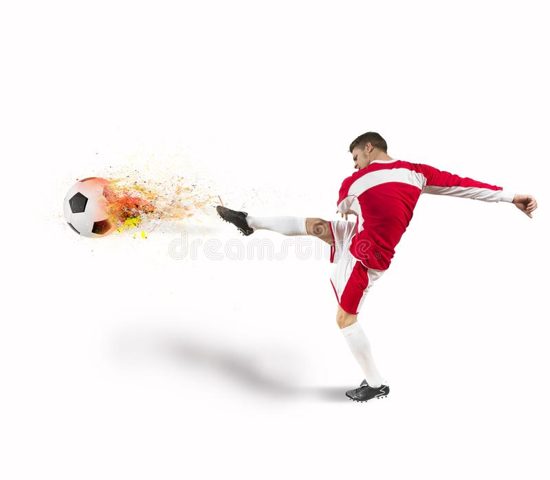 De macht van de voetbalster royalty-vrije stock afbeelding