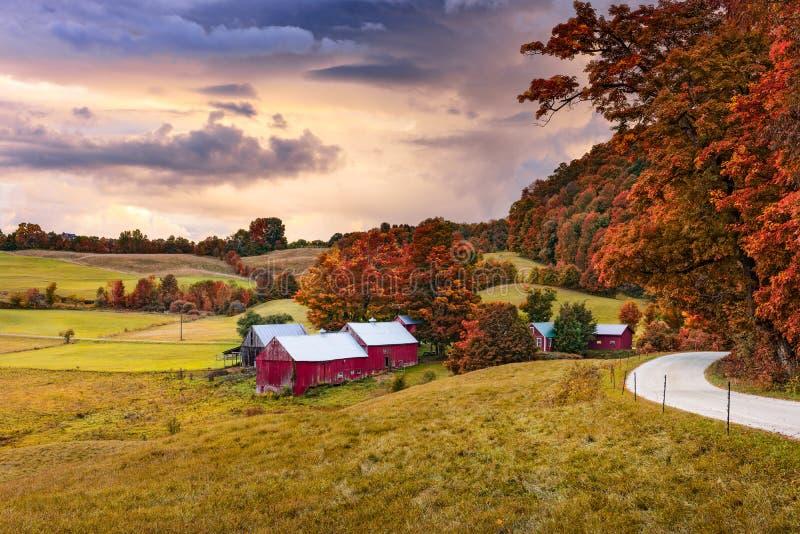 Vermont-Ackerland im Herbst lizenzfreies stockfoto