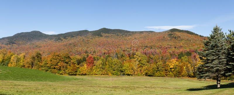 Vermont Autumn Panorama. Beautiful Vermont Autumn colors Panoramic view royalty free stock image