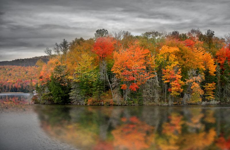 Vermont with fall foliage stock photography