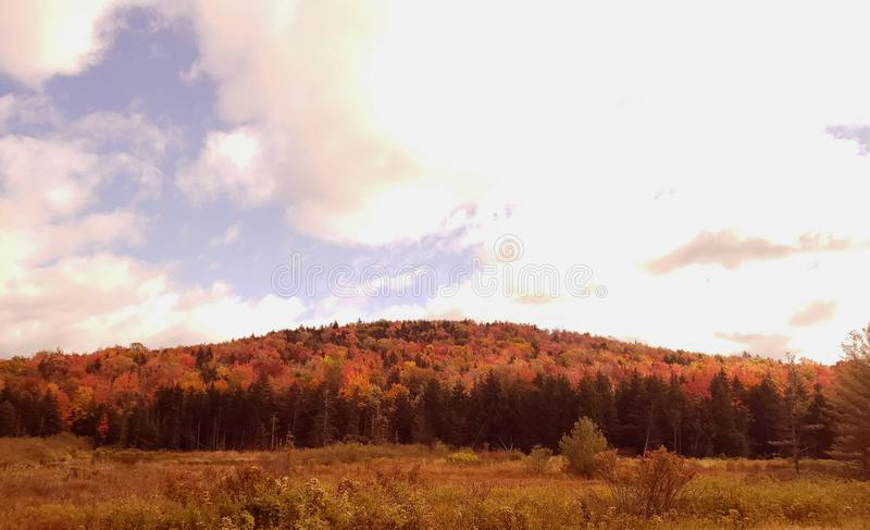 Vermont fall mountains royalty free stock photography