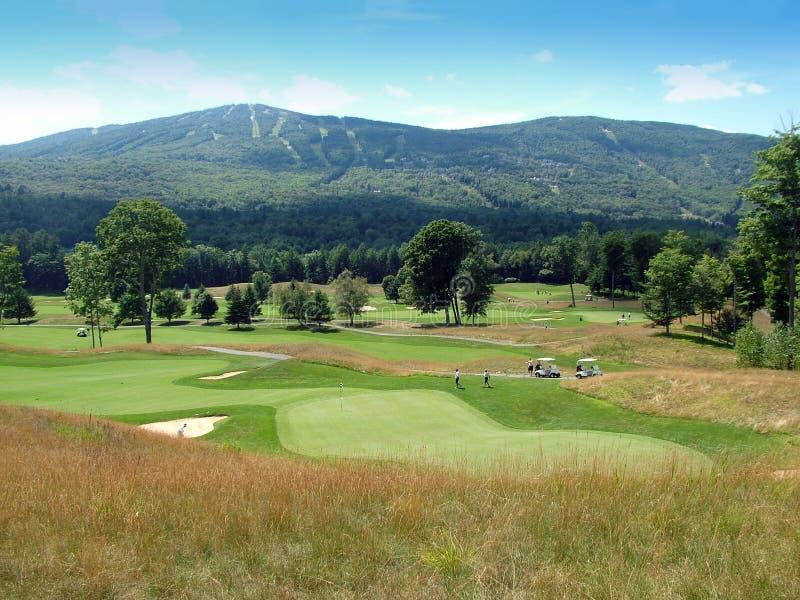 Vermont-Golfplatz stockbild