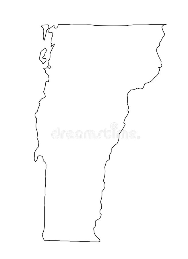 Vermont map outline vector illustartion vector illustration