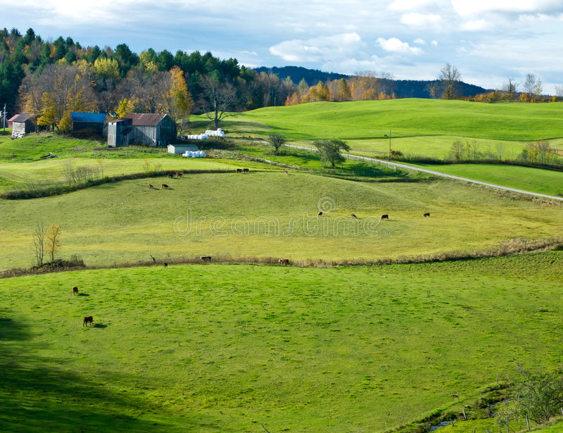 Vermont Rural Landscape stock images