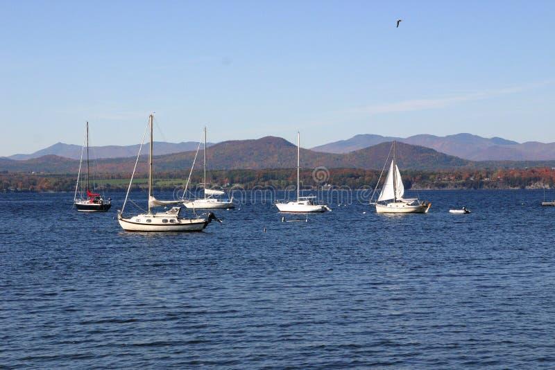 Vermont-Segelboote lizenzfreies stockfoto