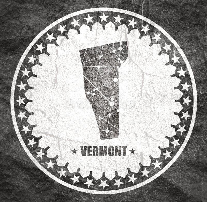 Vermont stanu mapa ilustracji