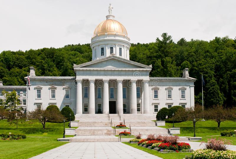 Vermont state capitol stock photography