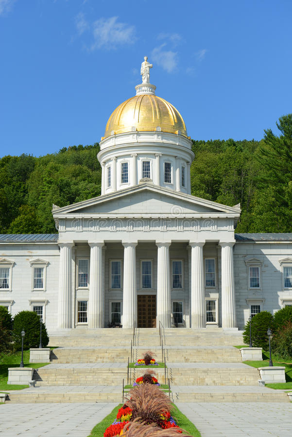 Vermont State House, Montpelier stock image