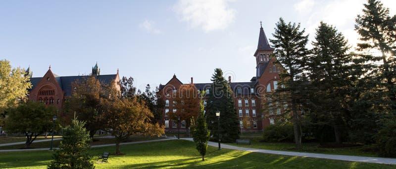 Vermont uniwersyteta park fotografia royalty free