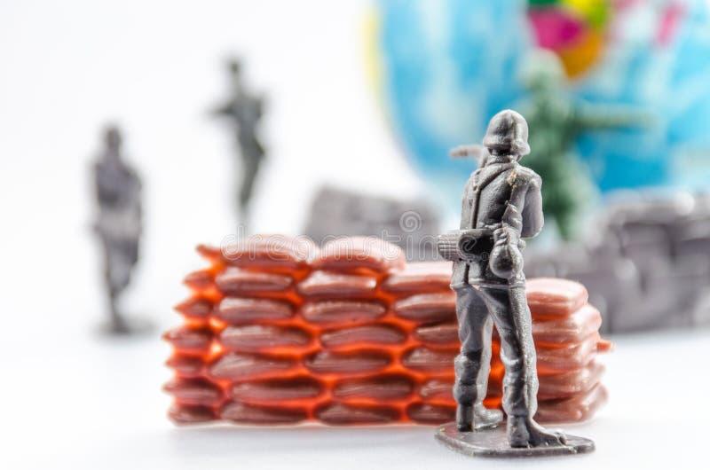 Vermoord van mini plastic Militairstuk speelgoed royalty-vrije stock fotografie
