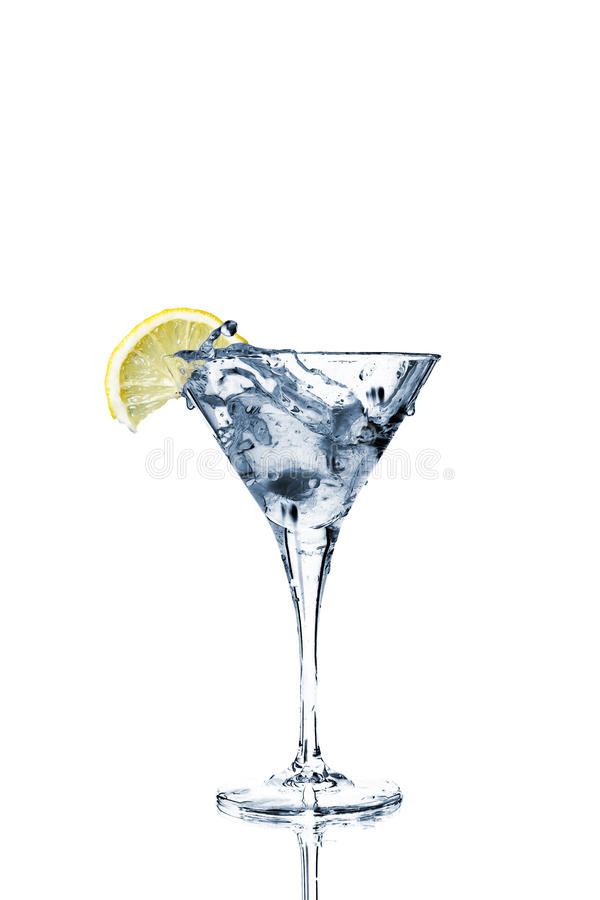 Free Vermouth Cocktail In Martini Glass Royalty Free Stock Photo - 18300885