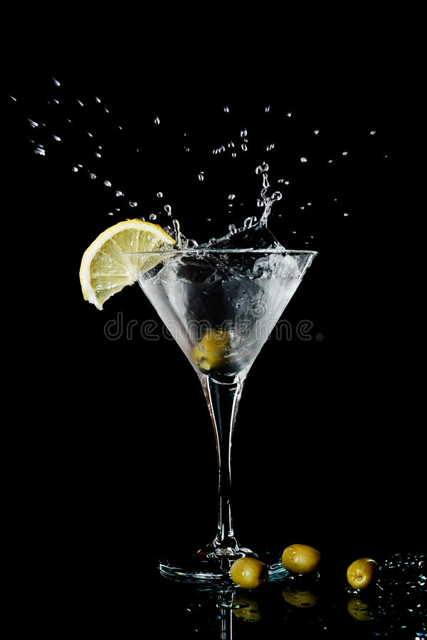 Free Vermouth Cocktail In Martini Glass Stock Photos - 18300903