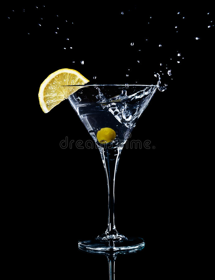 Free Vermouth Cocktail In Martini Glass Royalty Free Stock Photo - 18755055