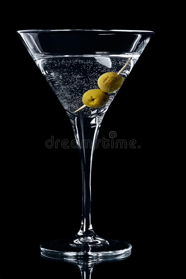 Free Vermouth Cocktail In Martini Glass Royalty Free Stock Image - 18755056