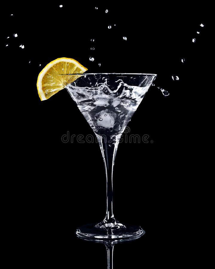 Free Vermouth Cocktail In Martini Glass Royalty Free Stock Photo - 18755065