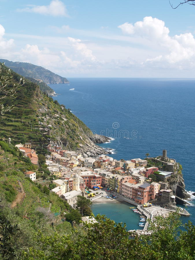 vernazza της Ιταλίας στοκ εικόνες με δικαίωμα ελεύθερης χρήσης