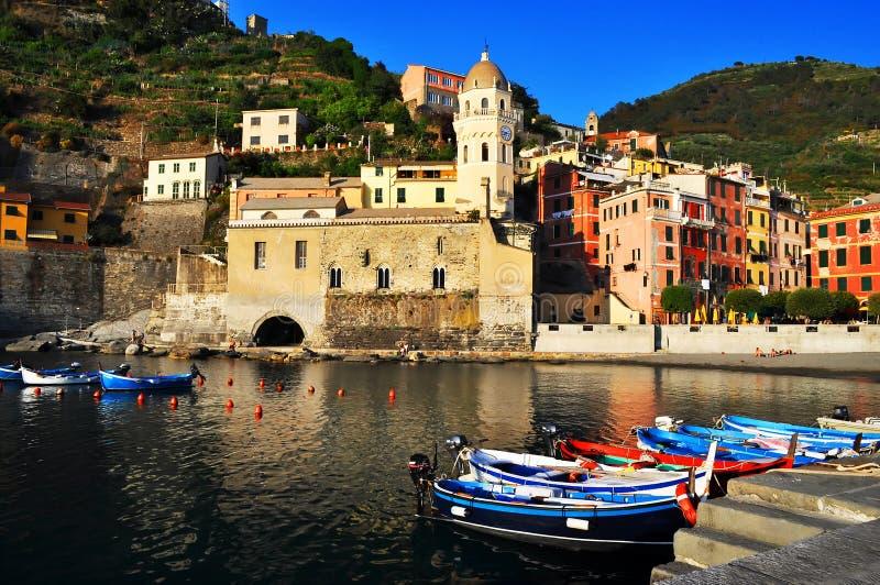 Vernazza, Италия, Европа стоковое фото