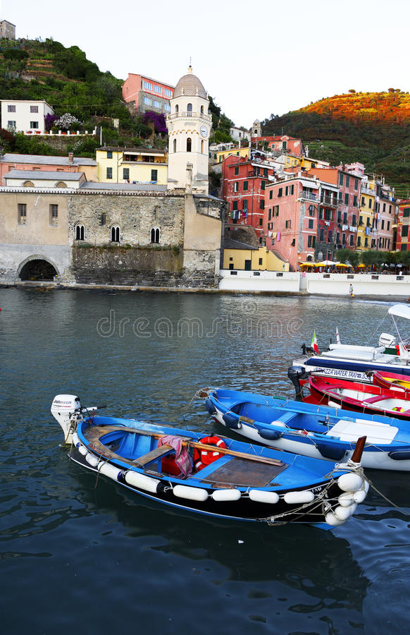 Vernazza, Cinque Terra, Ιταλία στοκ εικόνα με δικαίωμα ελεύθερης χρήσης