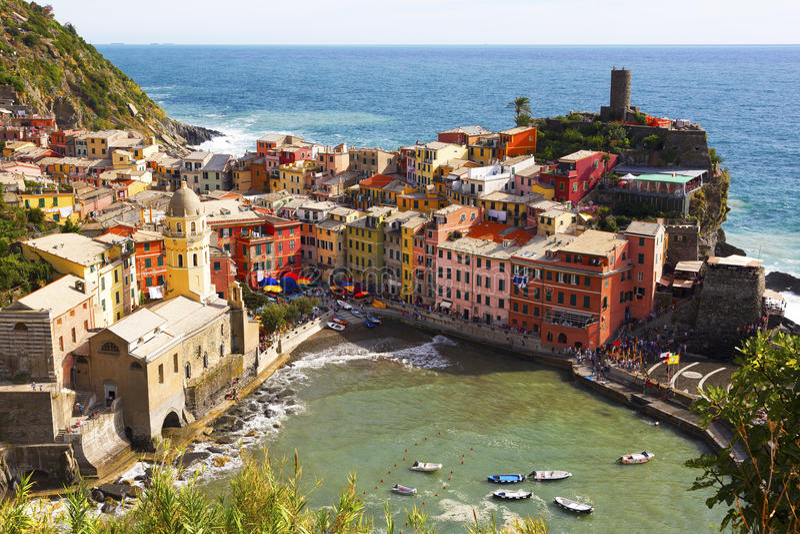 Vernazza, Cinque Terra, Itália foto de stock