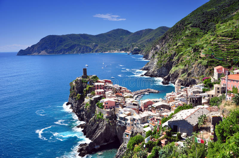 Download Vernazza, Cinque Terre stock image. Image of blue, boat - 16401933