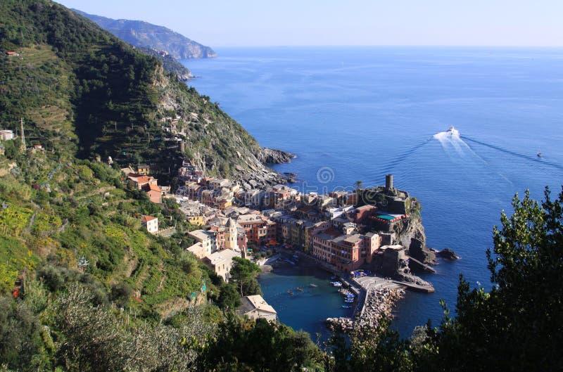 Vernazza, Cinque Terre, Italië - mening 02 royalty-vrije stock foto's