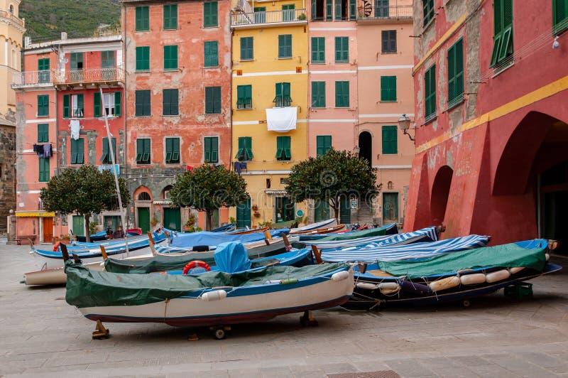 Vernazza in Cinque Terre, Itali? royalty-vrije stock fotografie
