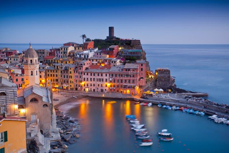 Vernazza, Cinque Terre, Italia immagini stock