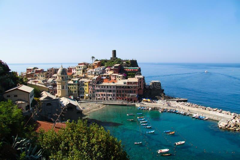 Vernazza, Cinque Terre, Italia imagen de archivo libre de regalías