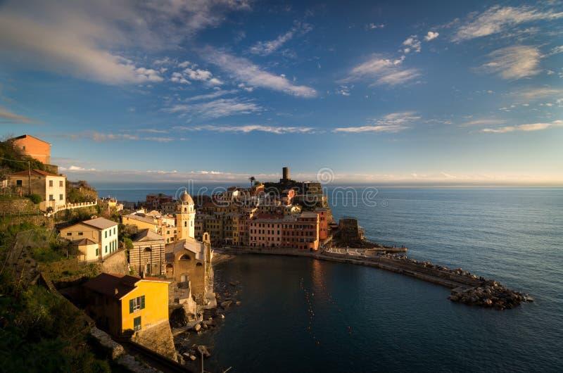 Vernazza Cinque Terre, Italien arkivbild