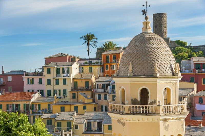 Vernazza, Cinque Terre, Italien stockbild