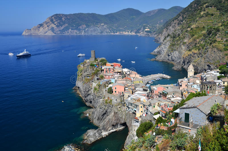 Vernazza, Cinque Terre in Italy royalty free stock image