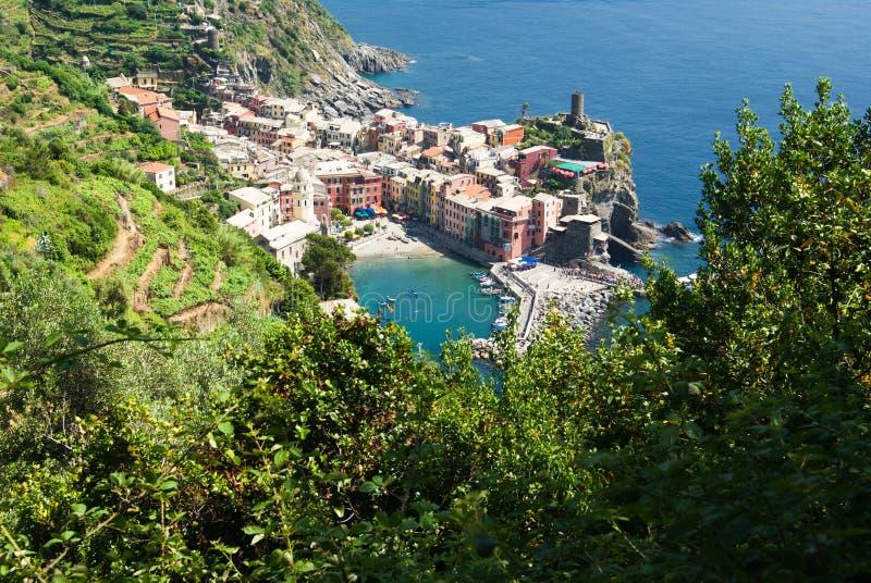 Vernazza, Cinque Terre, Liguria, Italia imagenes de archivo