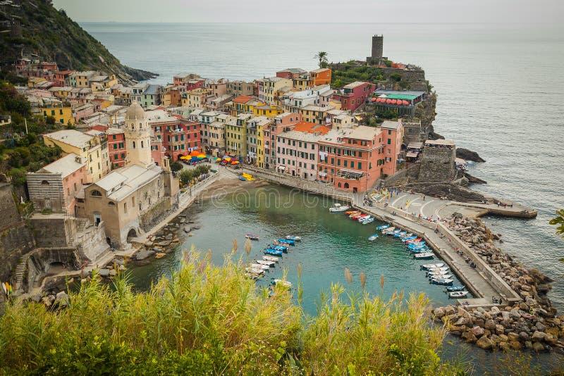 Vernazza, Cinque Terre, Liguria, Italy fotografia de stock royalty free