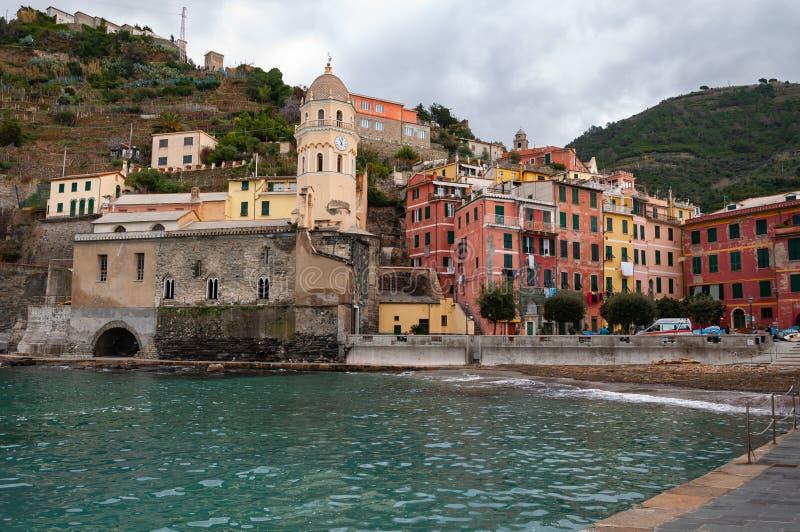 Vernazza em Cinque Terre, It?lia imagens de stock royalty free