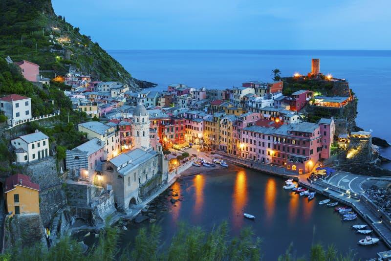 Vernazza, Italien stockfotografie