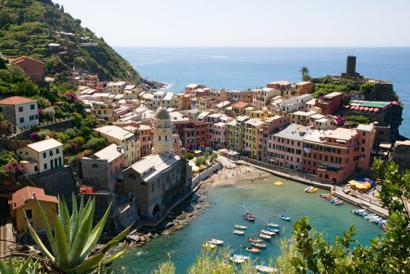 Vernazza, Liguria, Italia fotografía de archivo