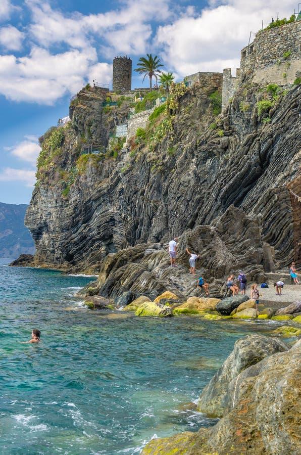 vernazza terre Италии cinque стоковое изображение rf