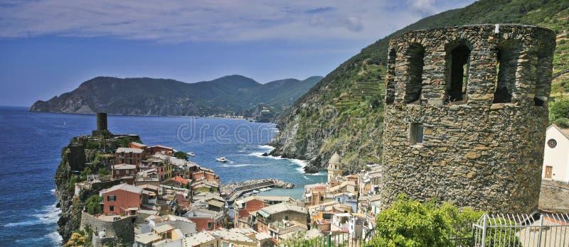 Vernazza town scenic Italy royalty free stock photo
