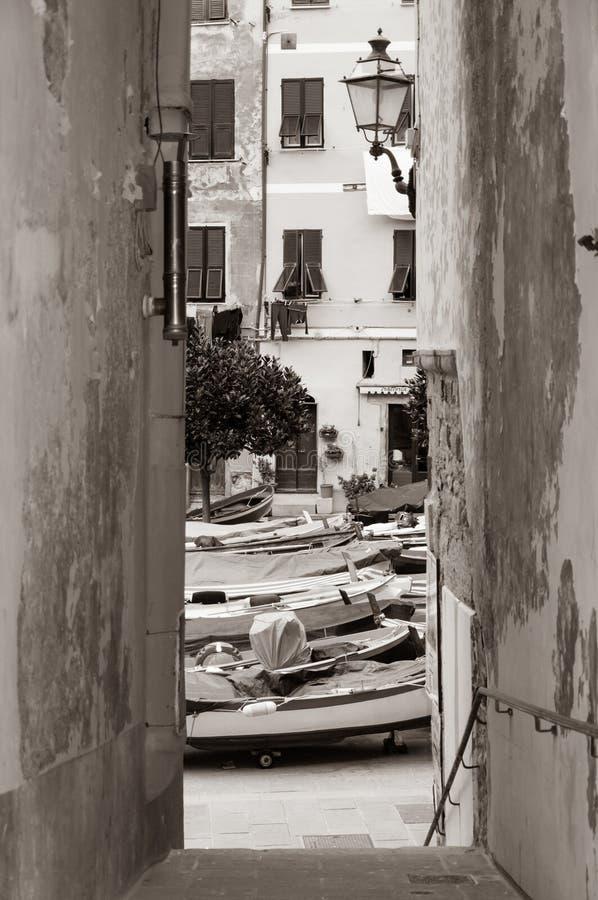 Vernazza w Cinque Terre, W?ochy fotografia royalty free