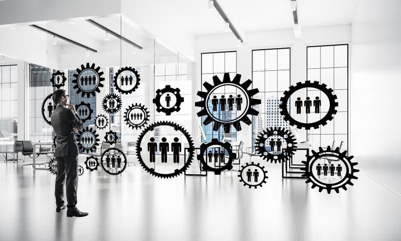 Vernetzung und Sozialkommunikationskonzept als effektiver Punkt f lizenzfreie stockfotos