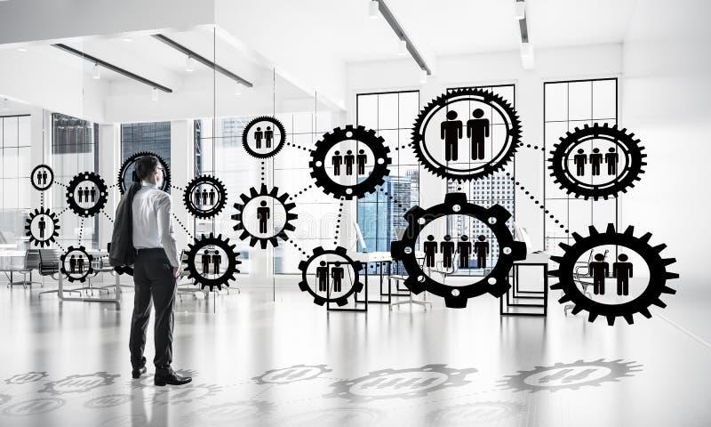 Vernetzung und Sozialkommunikationskonzept als effektiver Punkt f stockfoto
