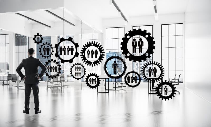 Vernetzung und Sozialkommunikationskonzept als effektiver Punkt f stockfotos