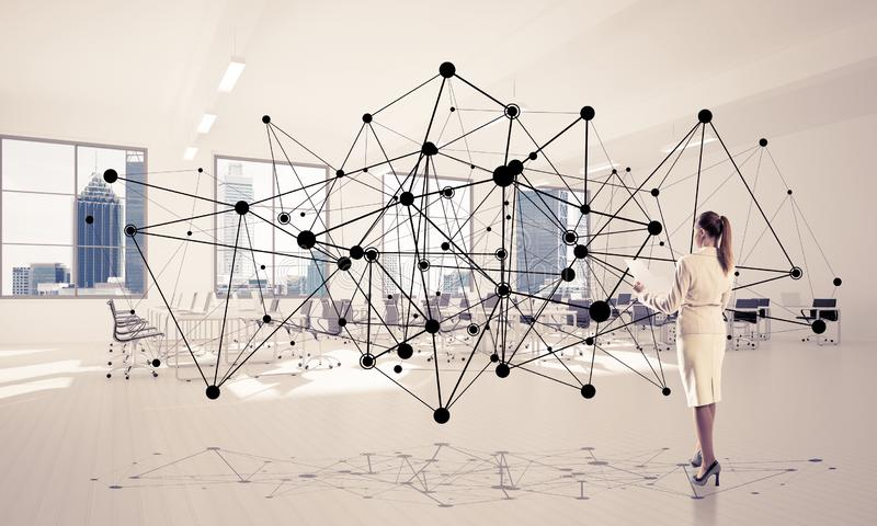 Vernetzung und Sozialkommunikationskonzept als effektiver Punkt f lizenzfreies stockbild