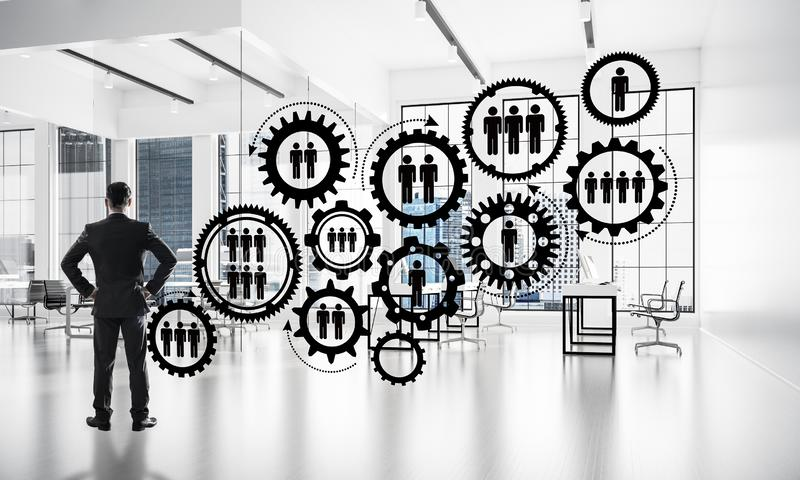 Vernetzung und Sozialkommunikationskonzept als effektiver Punkt f stockbild